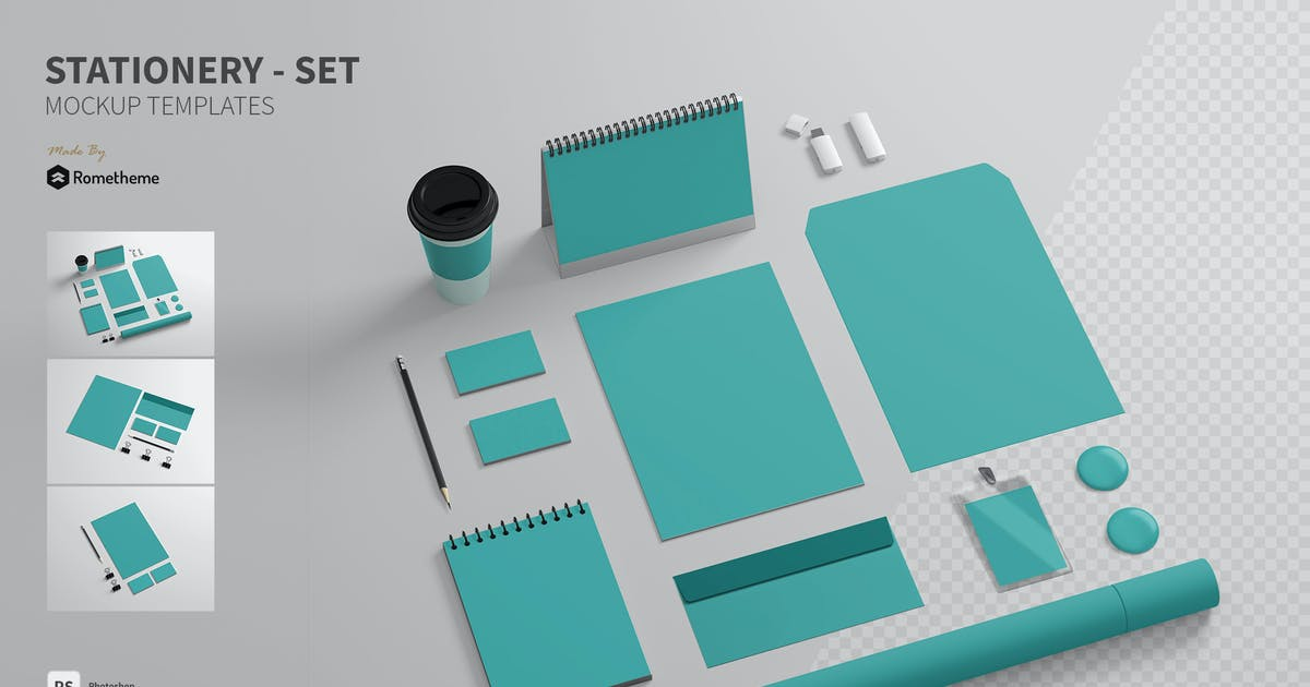 Download Branding / Stationery - Mockups FH by Rometheme