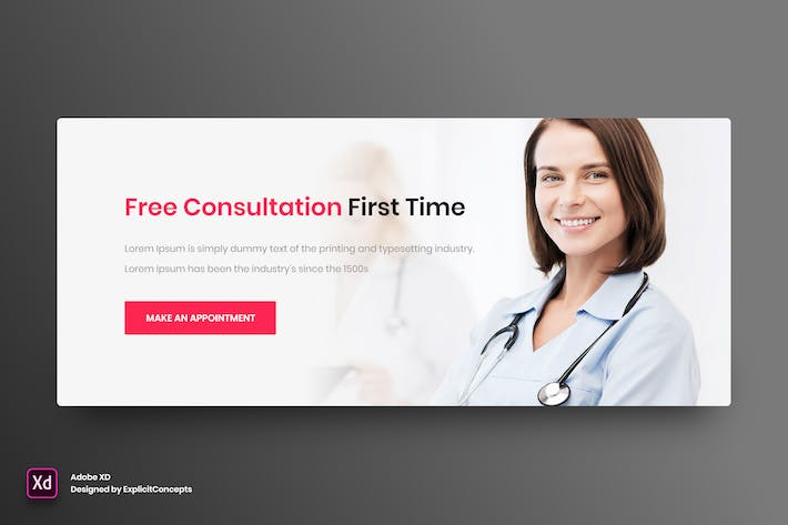 Thumbnail for Call to Action Medical - Adobe XD
