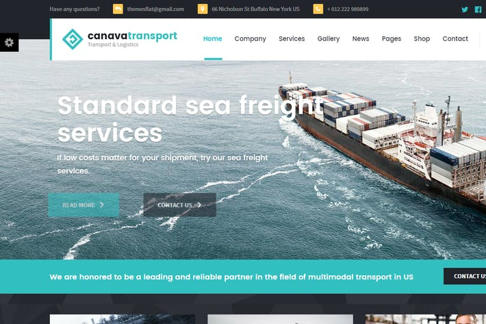 Thumbnail for Canava - Logistics and Business HTML Template