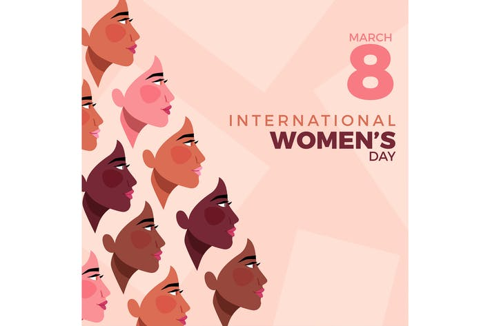 Flat Día Internacional de la Mujer