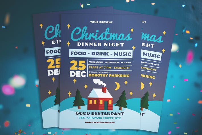 Thumbnail for Christmas Dinner Night Flyer