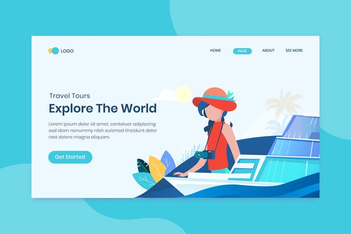 Thumbnail for Travel time landing page template