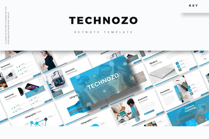 Cover Image For Technozo - Keynote Template
