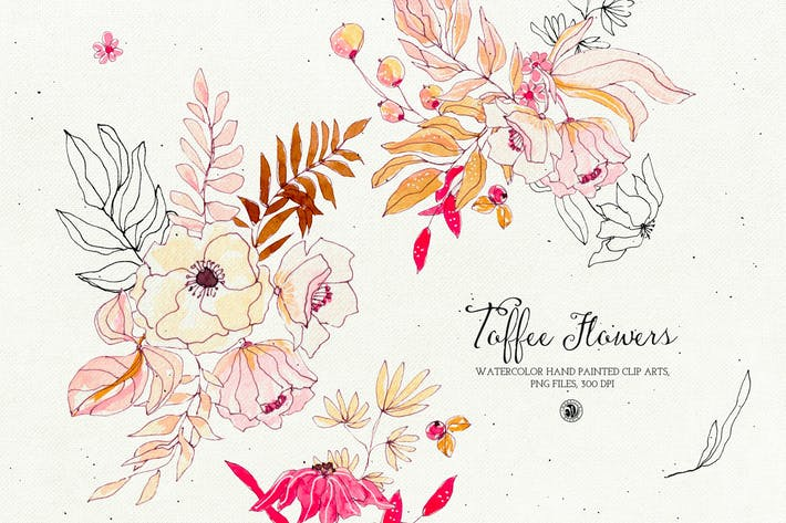 Thumbnail for Watercolor Toffee Flowers