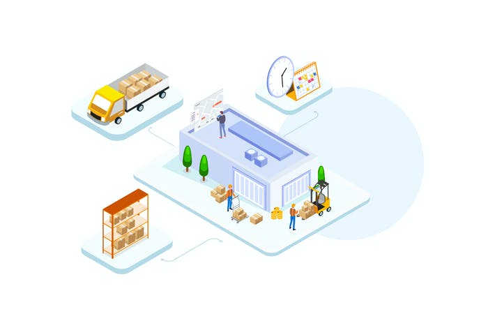 Thumbnail for Goods Management by Finance Isometric - FV