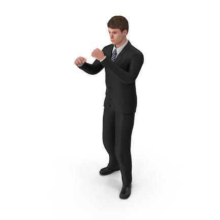 Hombre de negocios John Guarding