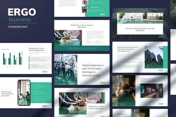 Thumbnail for Ergo - Шаблон Powerpoint бизнес-шага