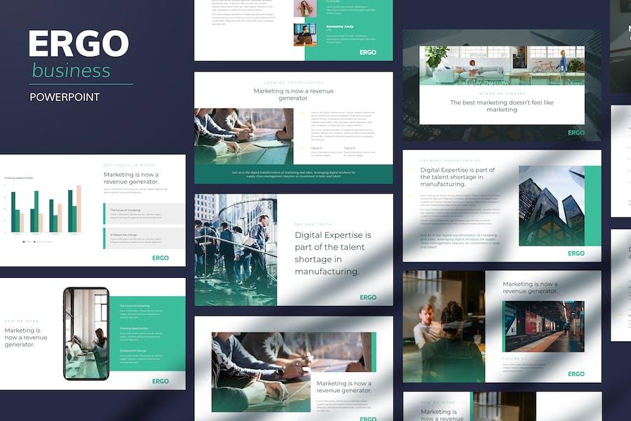 Ergo - Business Pitch Powerpoint Template