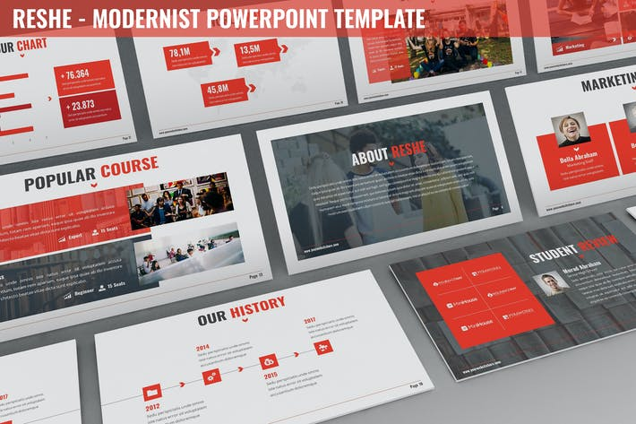 Thumbnail for Reshe - Modernist Powerpoint Template