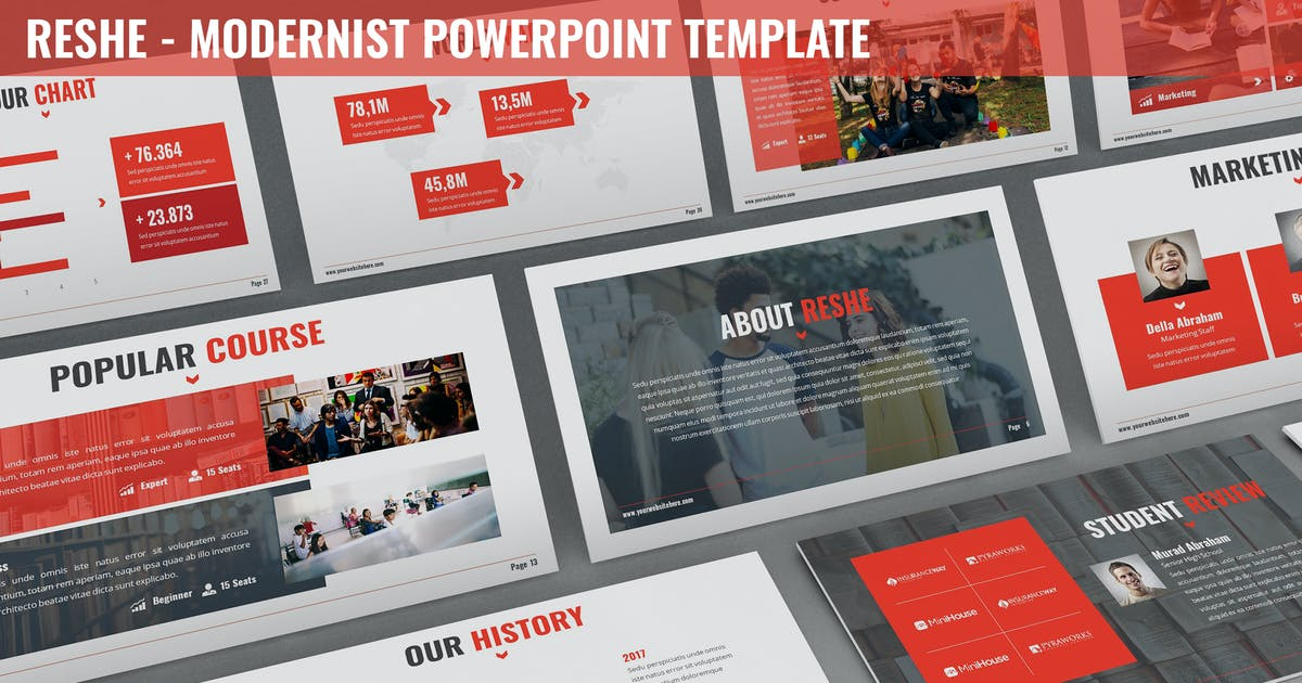 Download Reshe - Modernist Powerpoint Template by SlideFactory