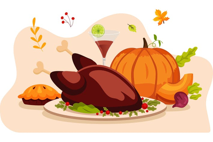 Thanksgiving - Vektor Illustration