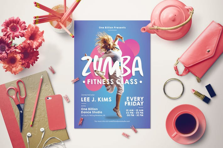 Thumbnail for Zumba Fitness Flyer