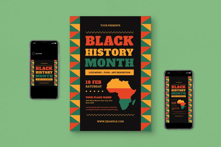 Black History Month Event Flyer Set