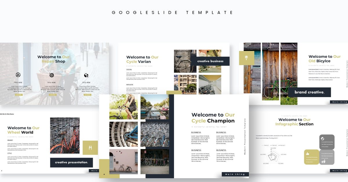 Download Cycle - Google Slides Template by aqrstudio