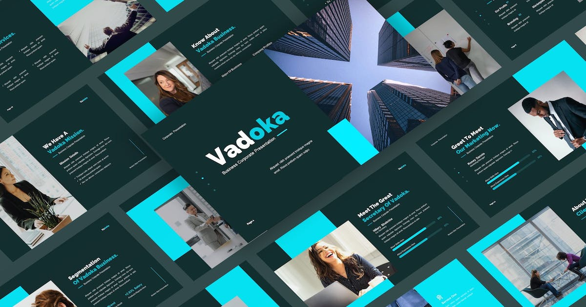 Download Vadoka - Business Corporate PowerPoint Template by CocoTemplates