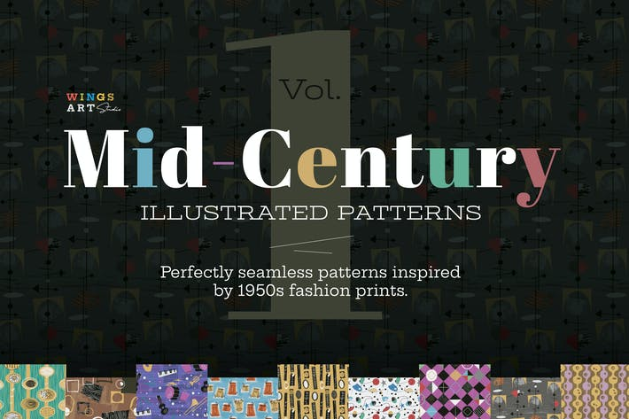 Thumbnail for Mid-Century Illustrated Patterns