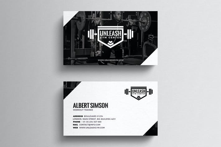 Thumbnail for Gym Business Card Template
