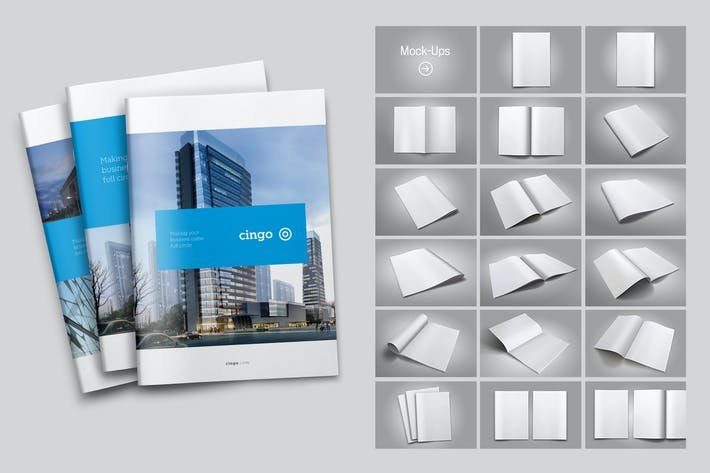 Thumbnail for 17 Brochure Mock-Ups