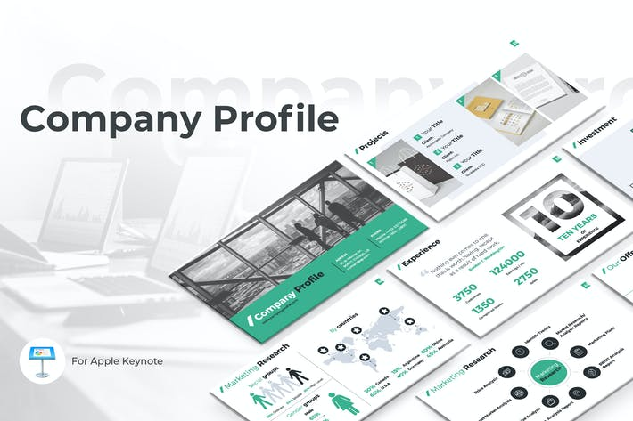 Thumbnail for Company Profile Keynote Template