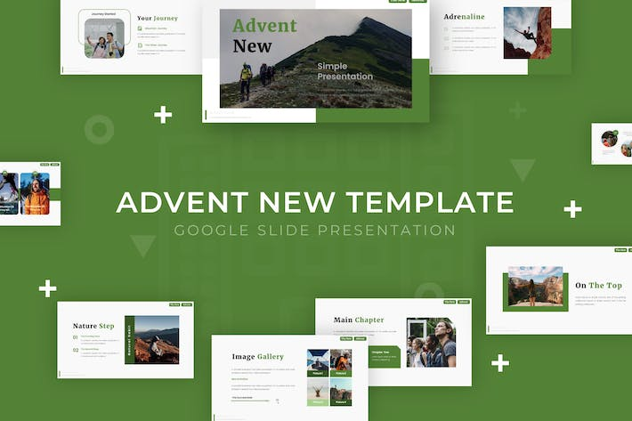 Thumbnail for Advent New - Google Slide Template