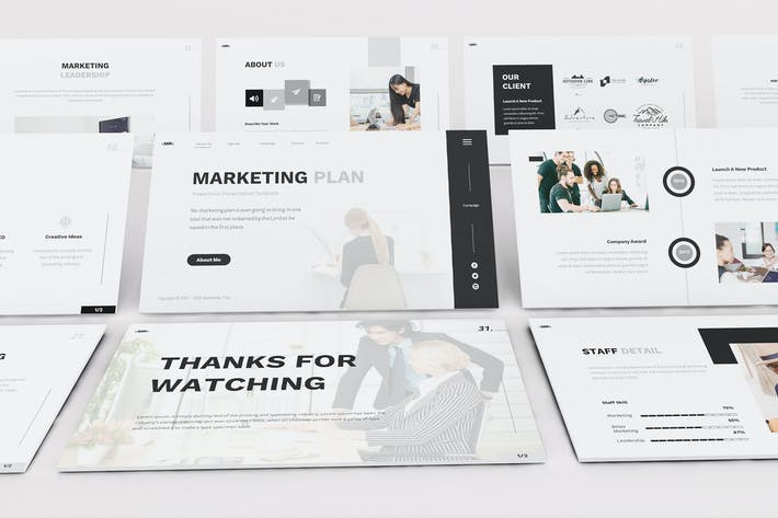 Thumbnail for Marketing Plan Google Slides Template