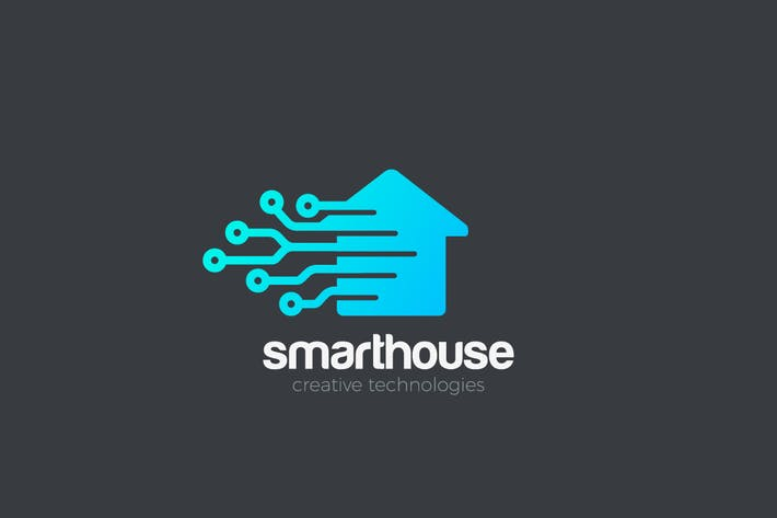 Cover Image For Logo Smart House digital Technology abstract