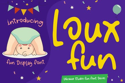 Loux Fun - Police d'affichage pour enfants Creative Fun