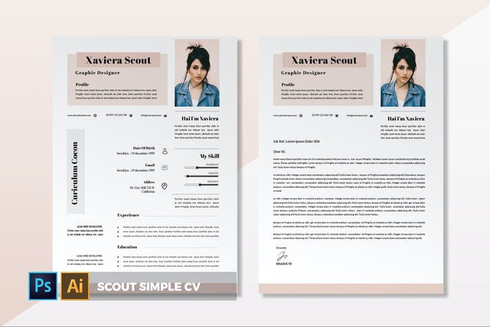 Thumbnail for Scout Simple | CV & Resume