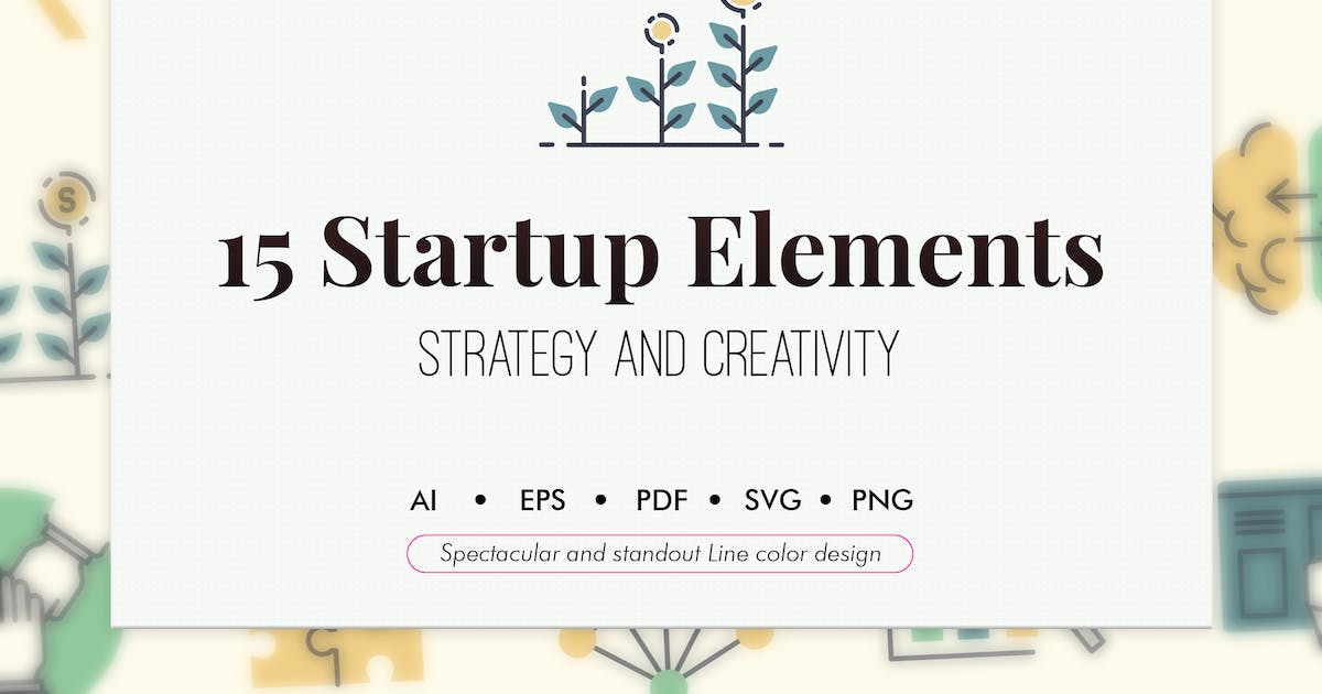 Download 15 Startup elements by Chanut_industries