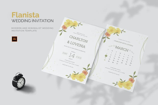 Flanista - Wedding Invitation