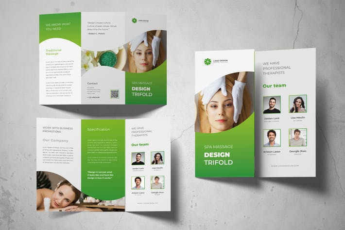 Thumbnail for Spa Massage Trifold Brochure