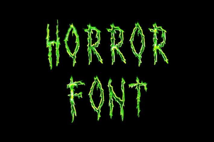 Thumbnail for Horror Script Brush font
