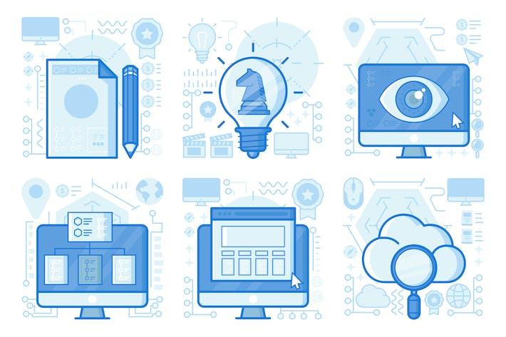 Thumbnail for Strategy Idea UI UX Illustrations