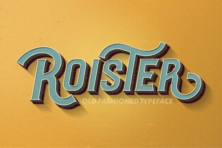 Thumbnail for Roister Typeface