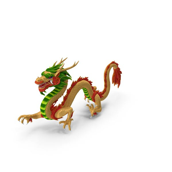 Colorful Traditional Chinese Dragon
