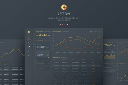 Cryptum - Luxurious Cryptocurrency Material Design