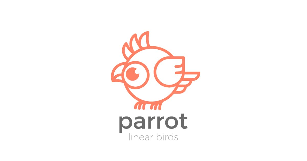 Download Logo Parrot Bird abstract funny Linear style by Sentavio