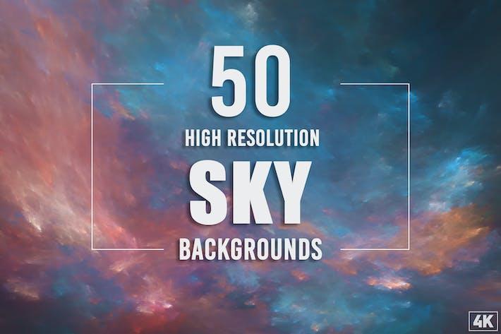 50 Himmel-Hintergründe