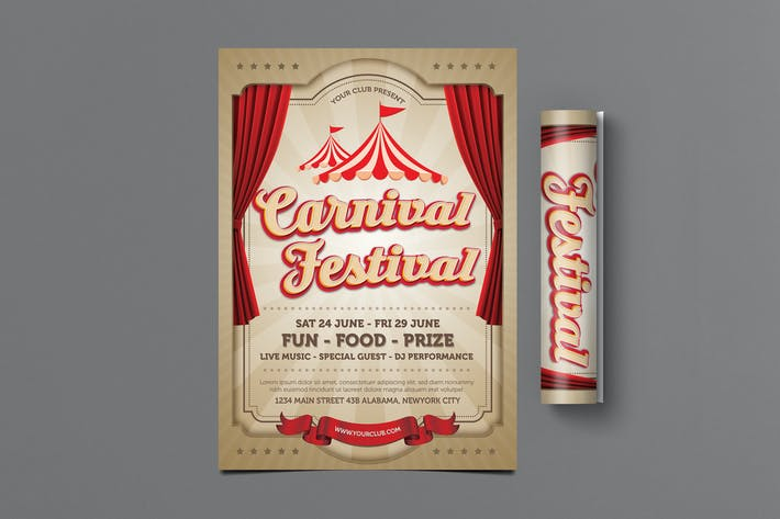 Thumbnail for Carnival Festival Flyer