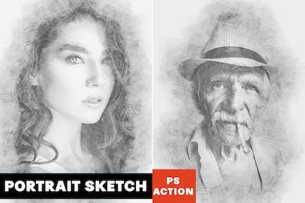 Portrait Sketch Photoshop Action