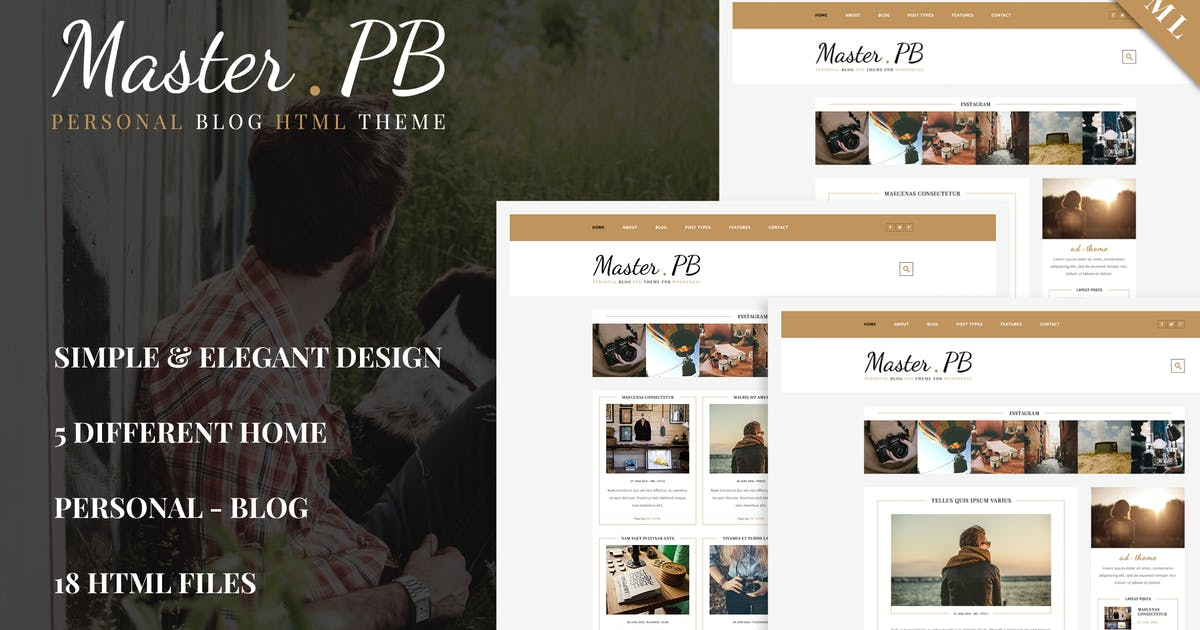 Download Master PB - Personal Blog HTML Template by ad-theme