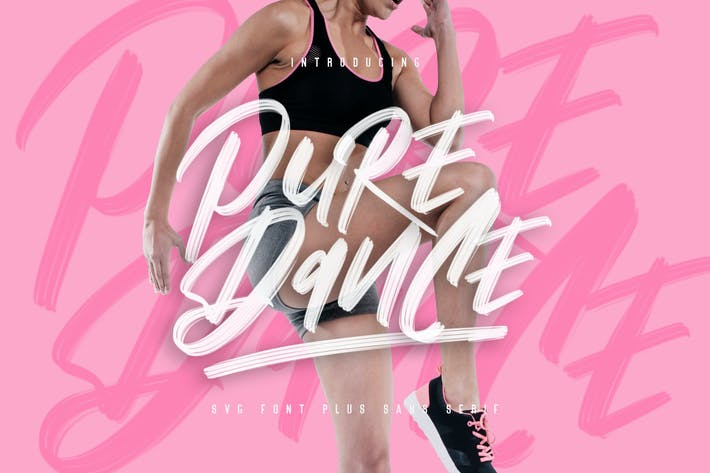 Thumbnail for Pure Dance Brush Font