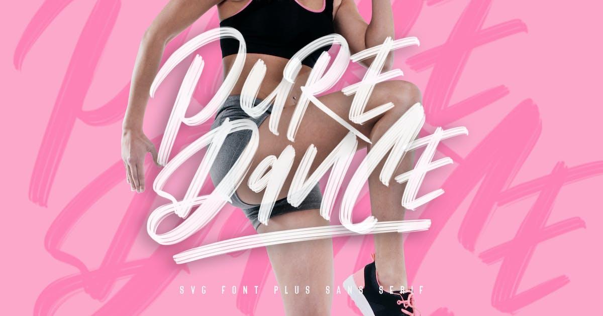 Download Pure Dance Brush Font by maulanacreative
