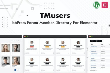 TMusers - bbPress Member Directory For Elementor