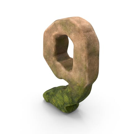 Number 9 Mossy Stone Stylized
