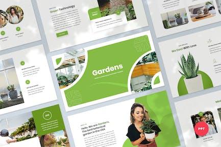 Шаблон PowerPoint для сада и ландшафтного дизайна