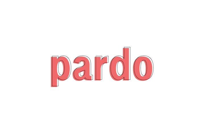 Thumbnail for Pardo - Modern Type Family