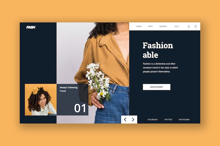 Cover Image For Fashion Hero Header Template