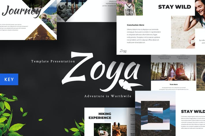 Thumbnail for Zoya - Nature Keynote Template