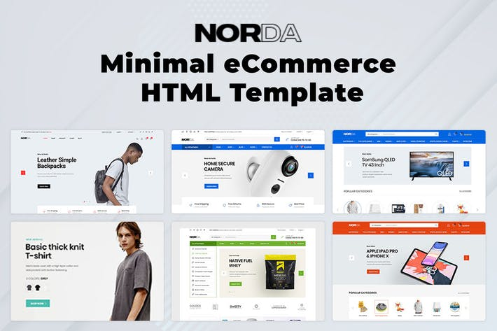 Thumbnail for Norda - Minimal eCommerce HTML Template